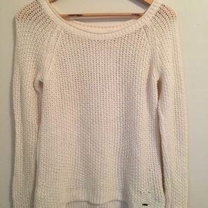 Abercrombie loose knit cream sweater